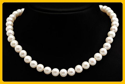 Wedding Freshwater Pearl Necklace-Wedding Jewelry-Bridal Jewelry-Anniversary gift-Birthday present-Mothers necklace-Mothers jewelry-for her - Wedding nacklaces (*Amazon Partner-Link)