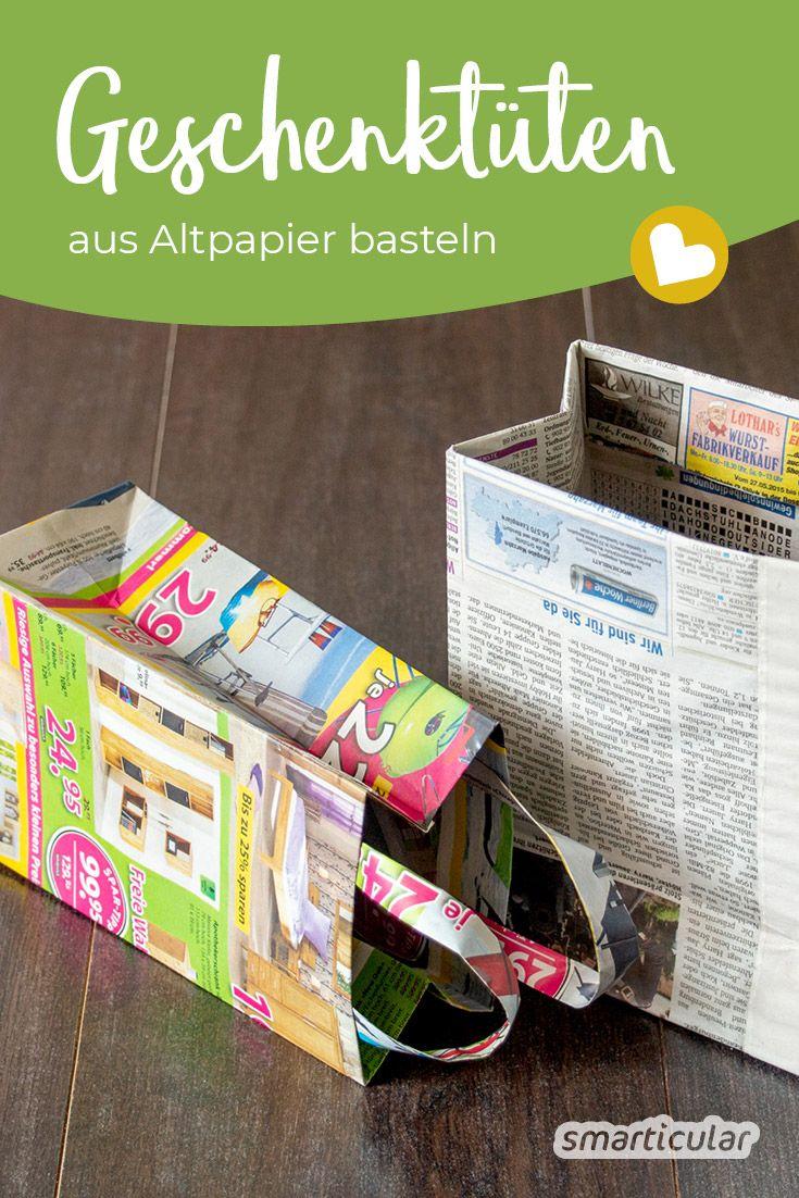 Elaboración de bolsas de regalo con papel usado: folletos inútiles con un nuevo propósito