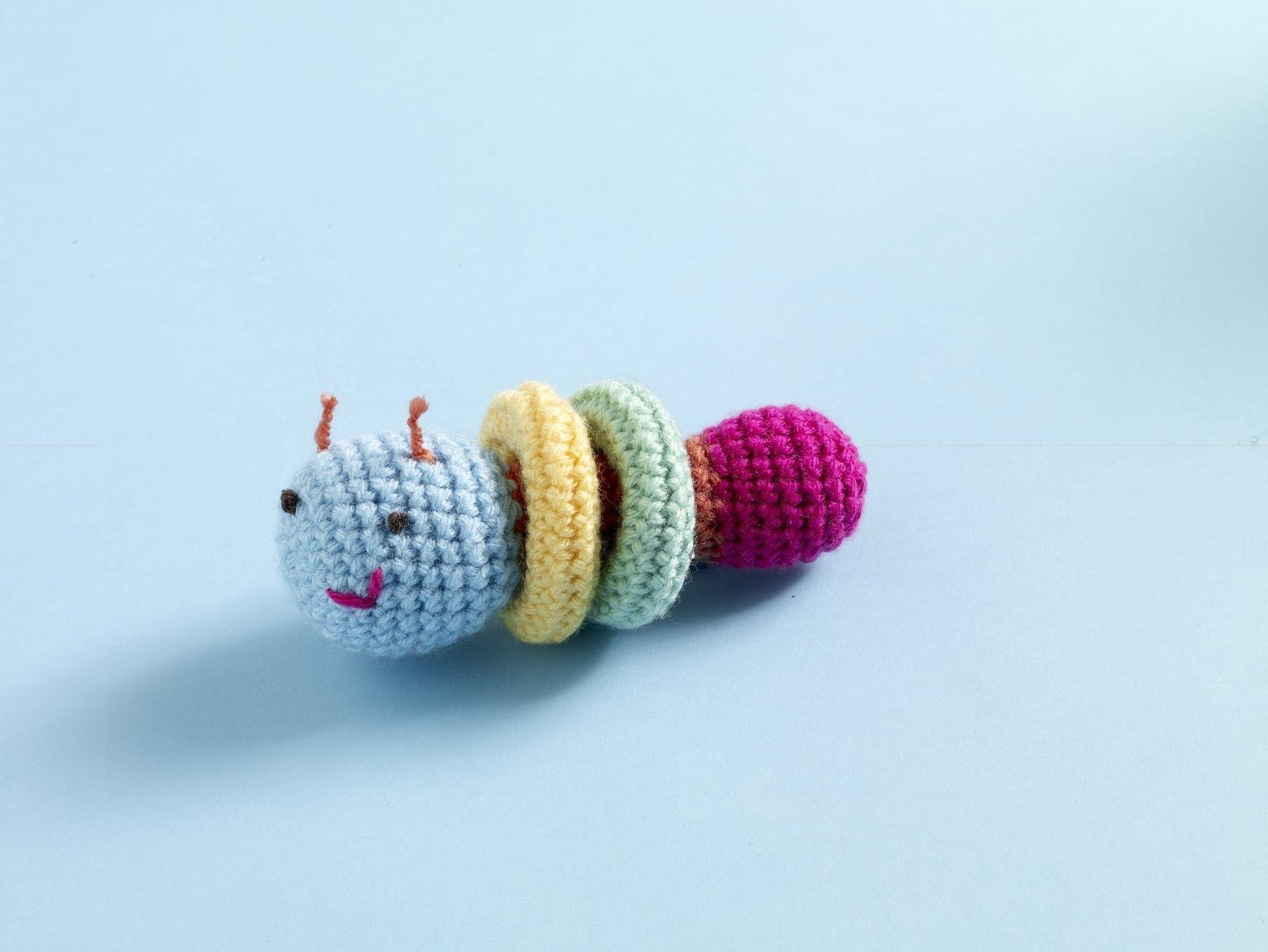 Caterpillar Baby Toy Pattern (Crochet) | babyspielzeug | Pinterest ...