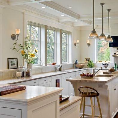 No Upper Cabinets Design with trim/shelf to make sense of ...