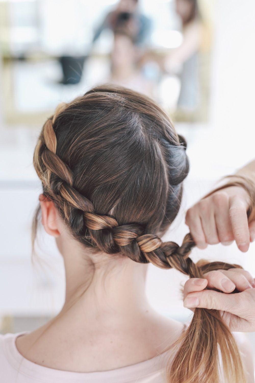 Black Tie Wedding Hairstyle Crown Braid Tutorial Braided Crown