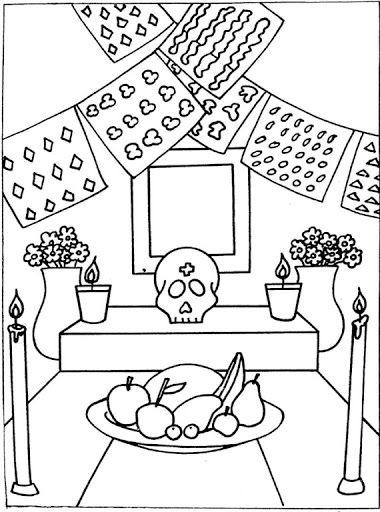Relacionado Altar De Muertos Dibujo Dibujo Dia De Muertos Dia De Muertos