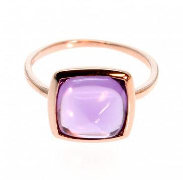 #Lawson Gems International                          #ring                     #Rose #Gold #Ring #with #Sugarloaf #Amethyst        Rose Gold Ring with Sugarloaf Cut Amethyst                                    http://www.seapai.com/product.aspx?PID=1237990