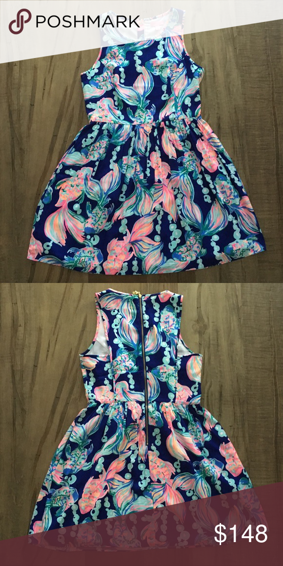 134f2dcbe8fa1b Size 6 Lilly Pulitzer Going Coastal Kassia Dress Size 6 Lilly Pulitzer  Going Coastal Kassia Dress. VGUC. Smoke free and one golden retriever home.