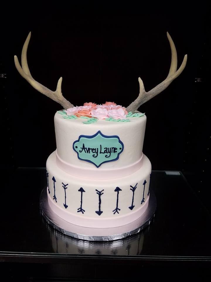 Rustic Baby Shower Sheet Cake : rustic, shower, sheet, Welcome, Antler, Shower, Cake,, Birthday, Cakes, Teens,