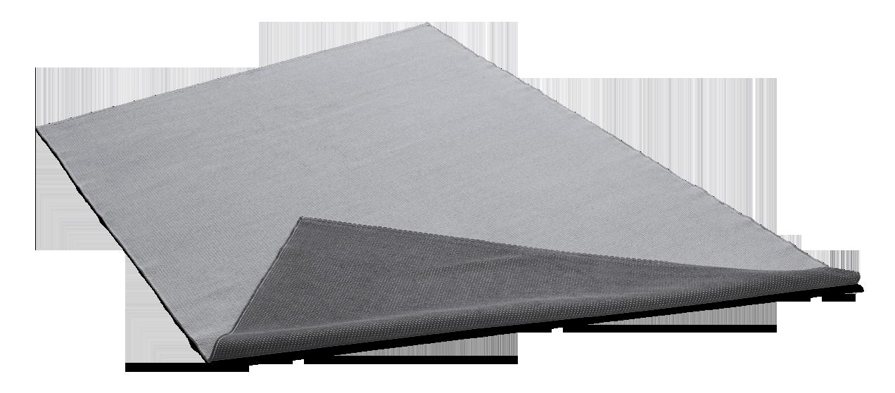 SEITA-puuvillamatto 80 X 200 cm Harmaa-harmaa