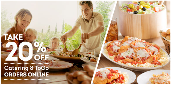 OLIVE GARDEN Save 20 on Your Catering & ToGo Online
