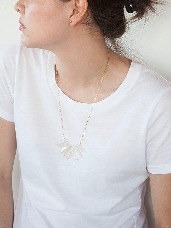 Crystal Multi Stone Necklace by HazelandStone on Etsy