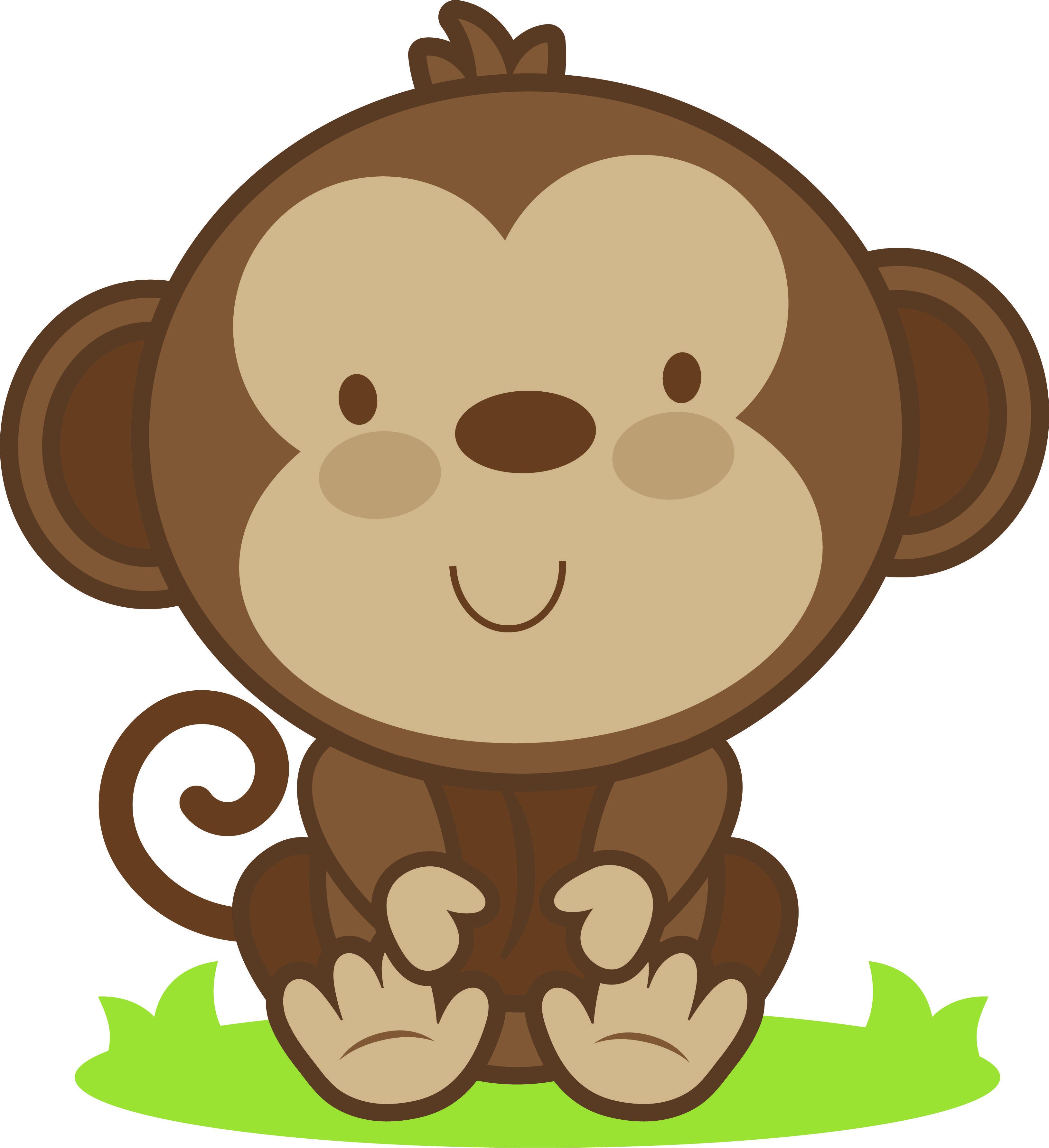 Dibujos Monos Infantiles Good Animales De La Selva Una Ilustracin
