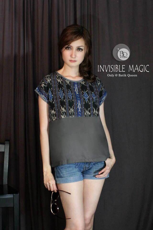 Indonesian Ikat blouse