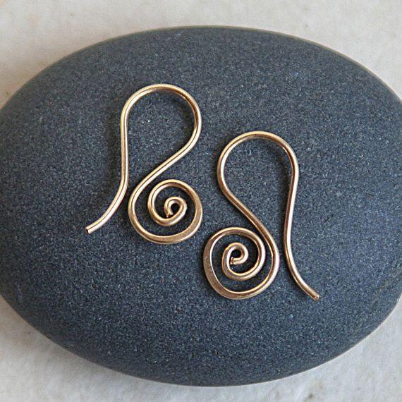 Handmade Spiral Ear Wires Jewelry Findings by funkyprettybeads