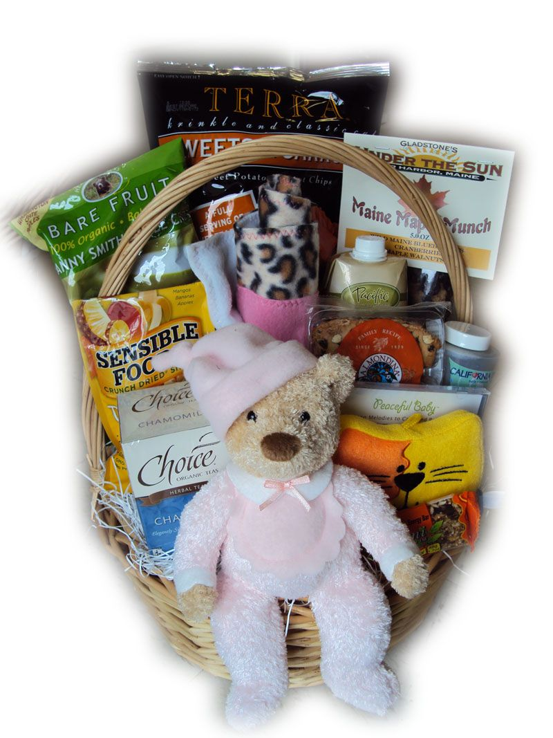 Deluxe healthy mommy and baby mothers day gift basket for