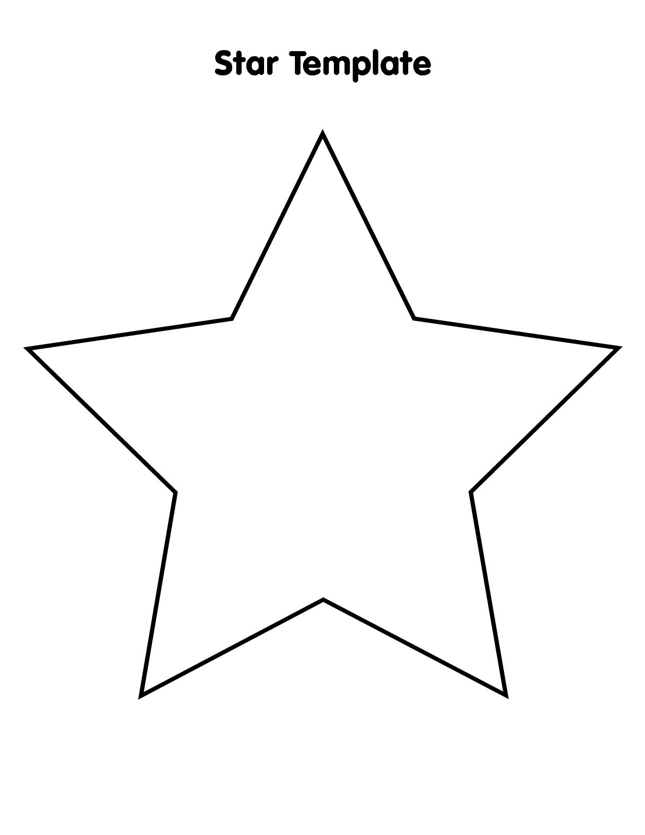 Large Star Template Star Template Star Template Printable Printable Star
