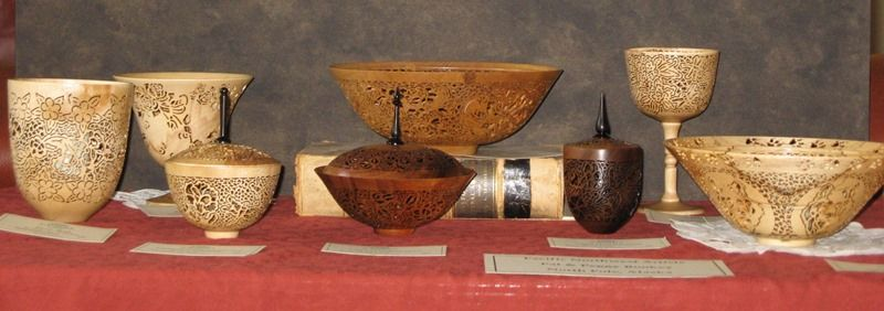 Pat and Peggy Bookey, sculptured wooden bowls and vases, at Wenaha Gallery. https://wenaha.com/artist/pat-and-peggy-bookey/