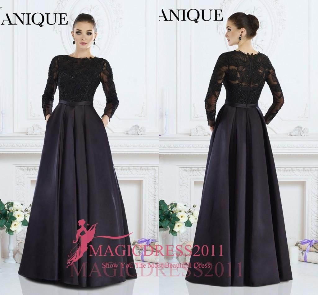 Elegant evening dresses illusion long sleeve lace formal prom gowns