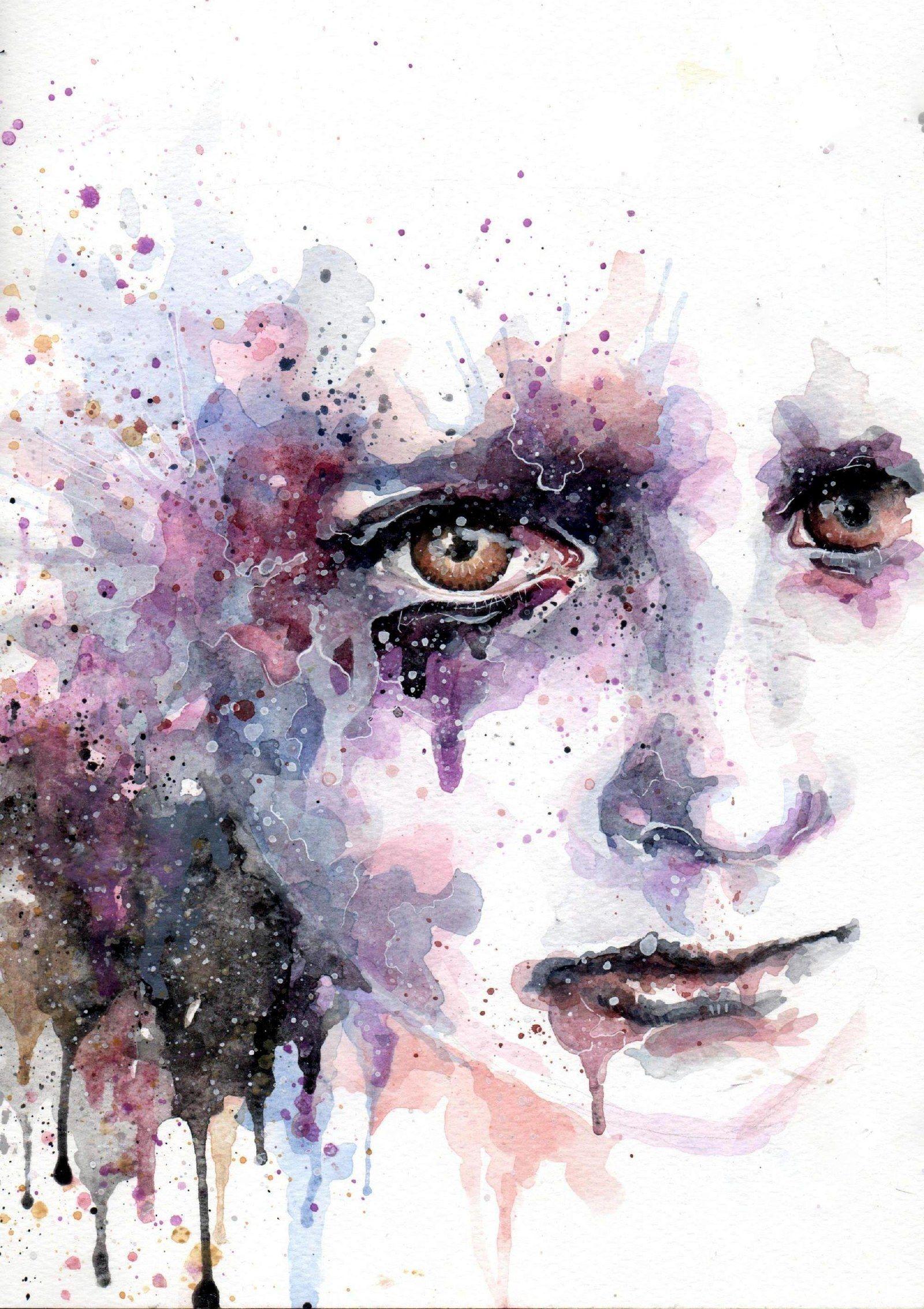 Lost In Misery Malba Akvarelem Jde O Obraz Formatu A4 Malovany