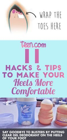here's how to make your high heels super comfortable so you can wear them all night at prom