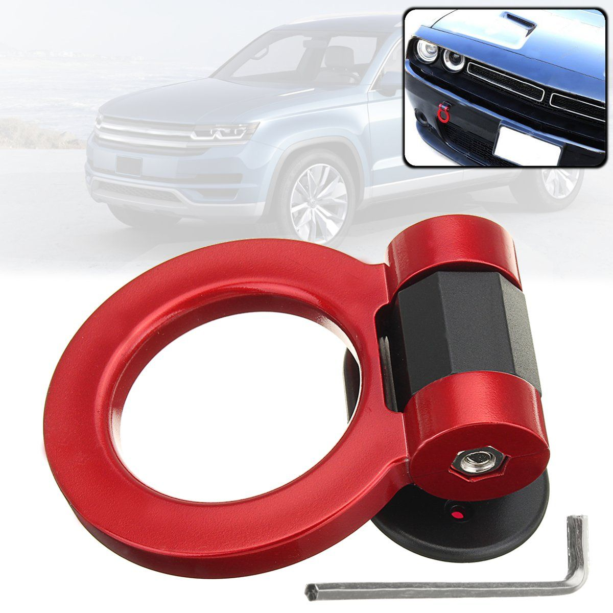 Universal Ring Track Racing Style Tow Gancho Look