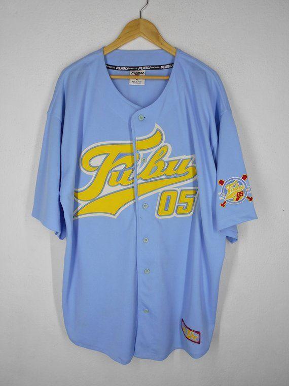 c51ed19d1 Fubu Shirt Fubu Jersey Vintage Fubu Official 05 Shirt Size XL Fubu Vintage  Big Logo Embroidery Hip H