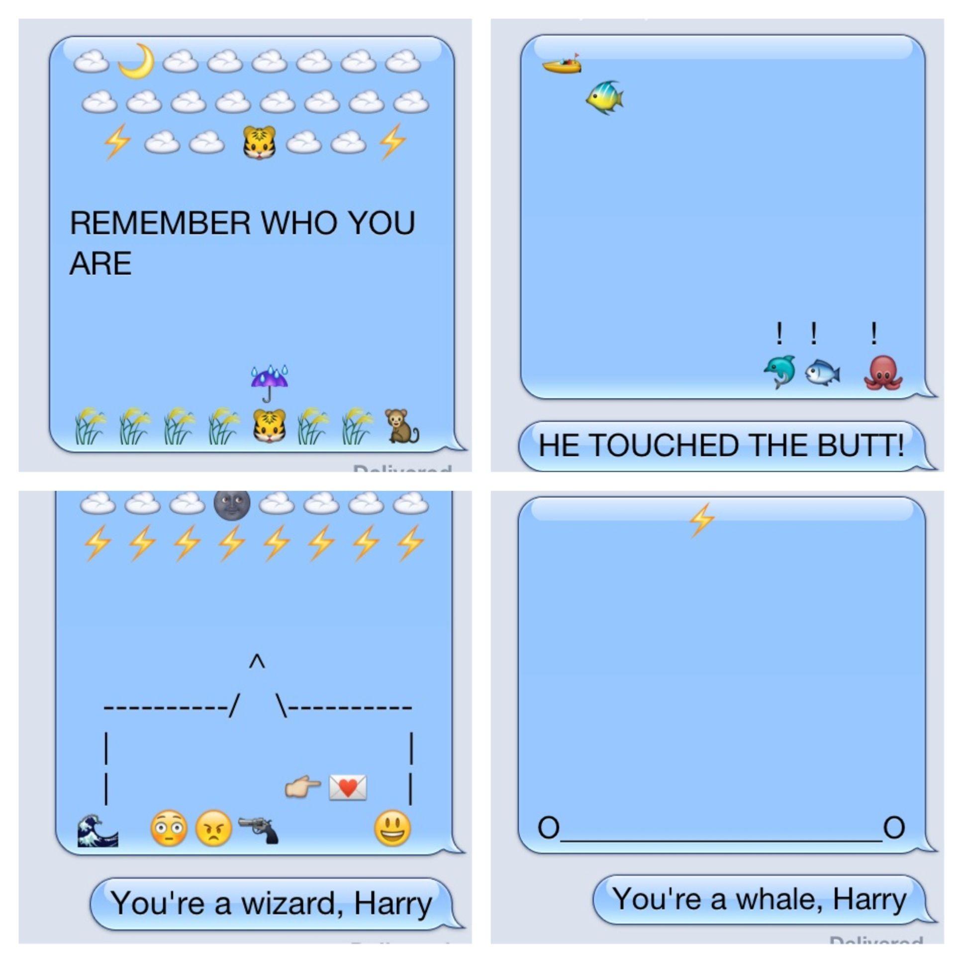 12f68da71ed58e712e8108f6879bf821 just having fun with emoji! emoji messages funny texts texts