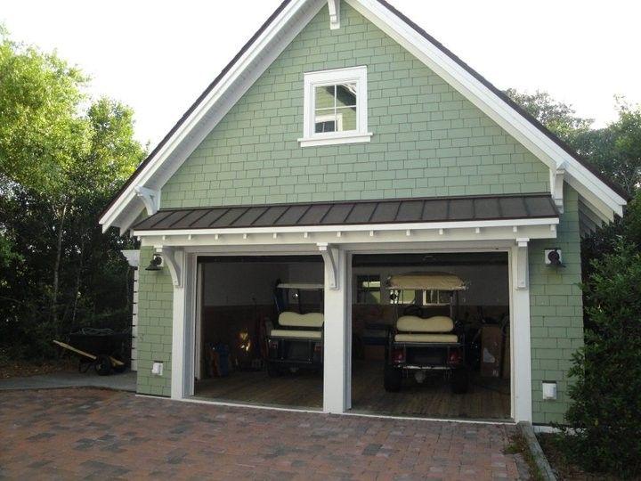 Two Car Garage Cottage House Exterior Garage Design