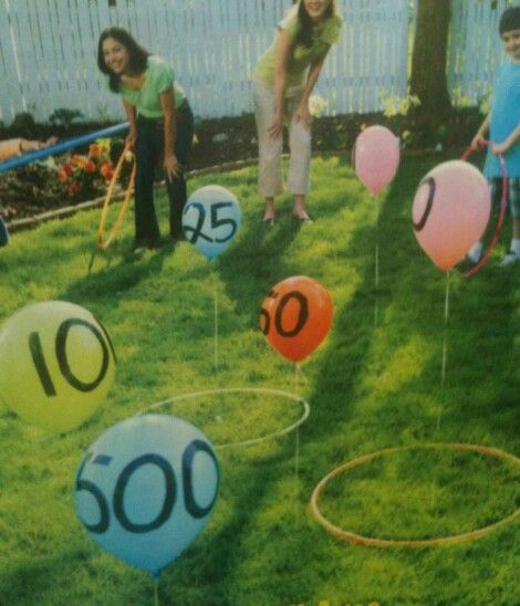 Great Outdoor Party Game For Family Reunions Or Backyard Bbqs. Great For  Young Kids Learning To Add, Too