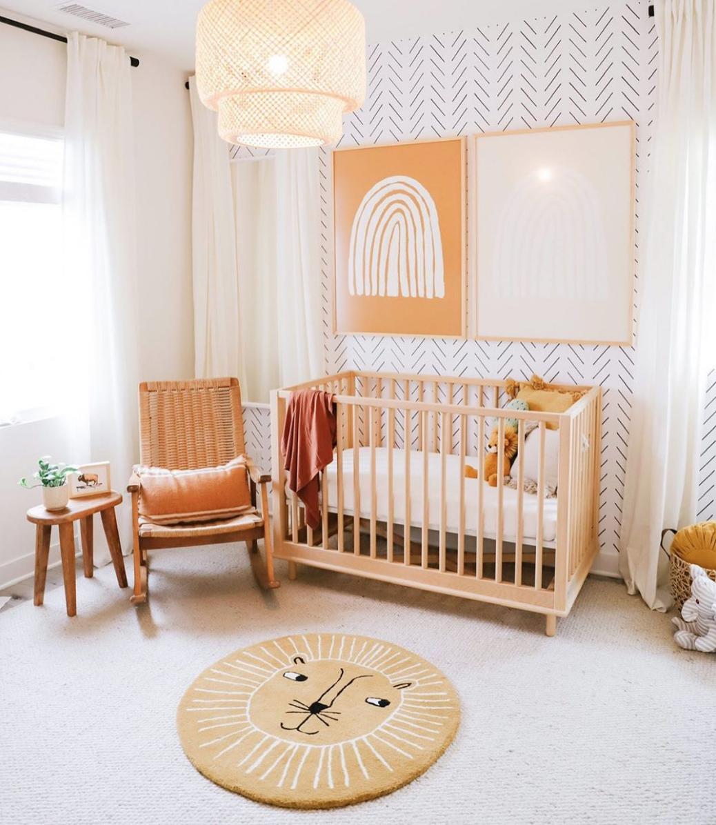 Non Toxic Safe Vegan Baby & Kids Rooms | Nursery Room Design, Nursery Baby Room, Baby Nursery Decor