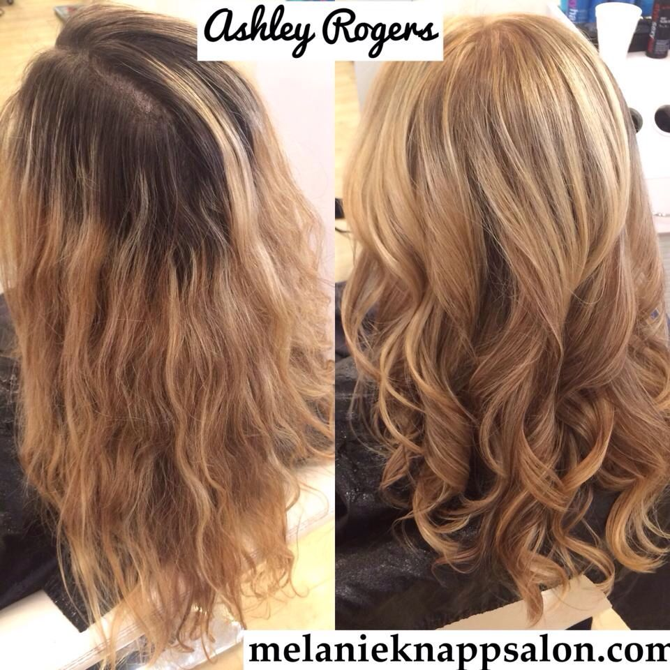 Before And After Blonde With Olaplex Inspirations For