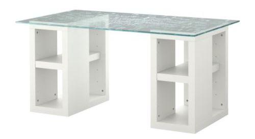 Glass top desk ikea roselawnlutheran for Ikea glass work desk