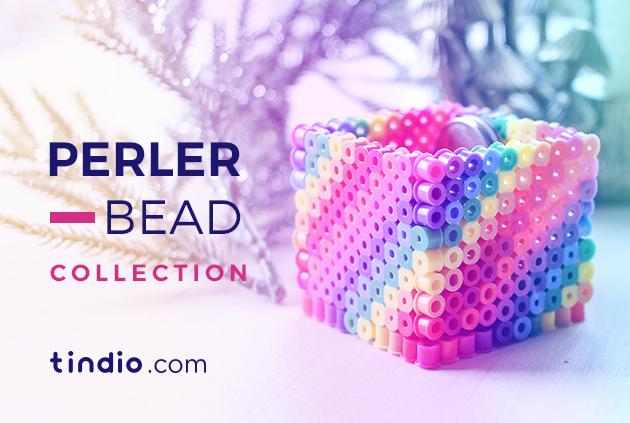 خرز بيرلر أو خرز الكوى هو خرز بلاستيك بتكويه بمكواة الملابس عشان يذوب شوية ويتماسك في بعضه كل اللى عليكى أ Perler Beads Embroidered Friendship Bracelet Beads