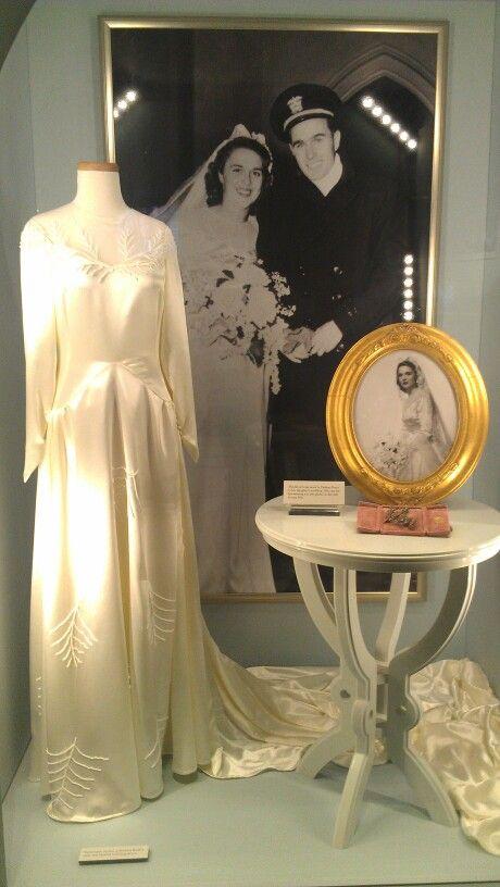 Barbara Bush wedding gown.