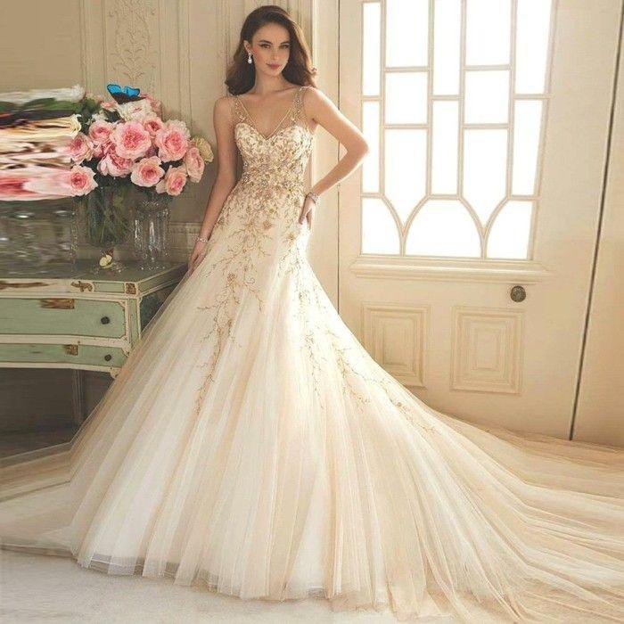100 einzigartige Modelle Champagne Brautkleider! | Champagne