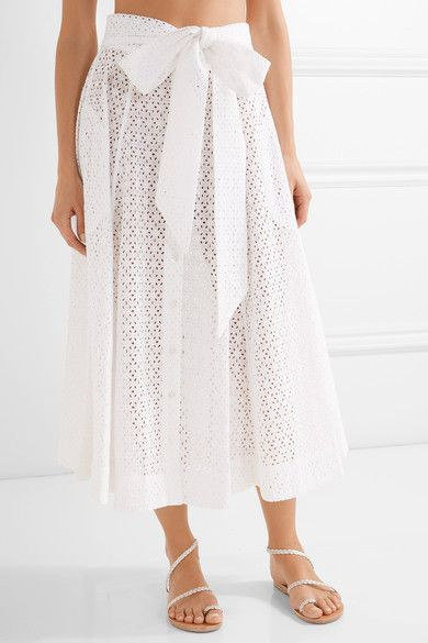 White broderie anglaise cotton Button fastenings through front 100% cotton Machine wash