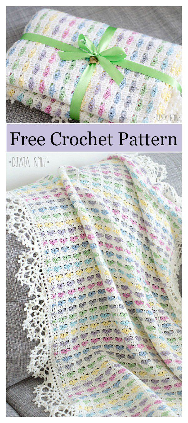 I Love Scraps Afghan Baby Blanket Free Crochet Pattern | all things ...