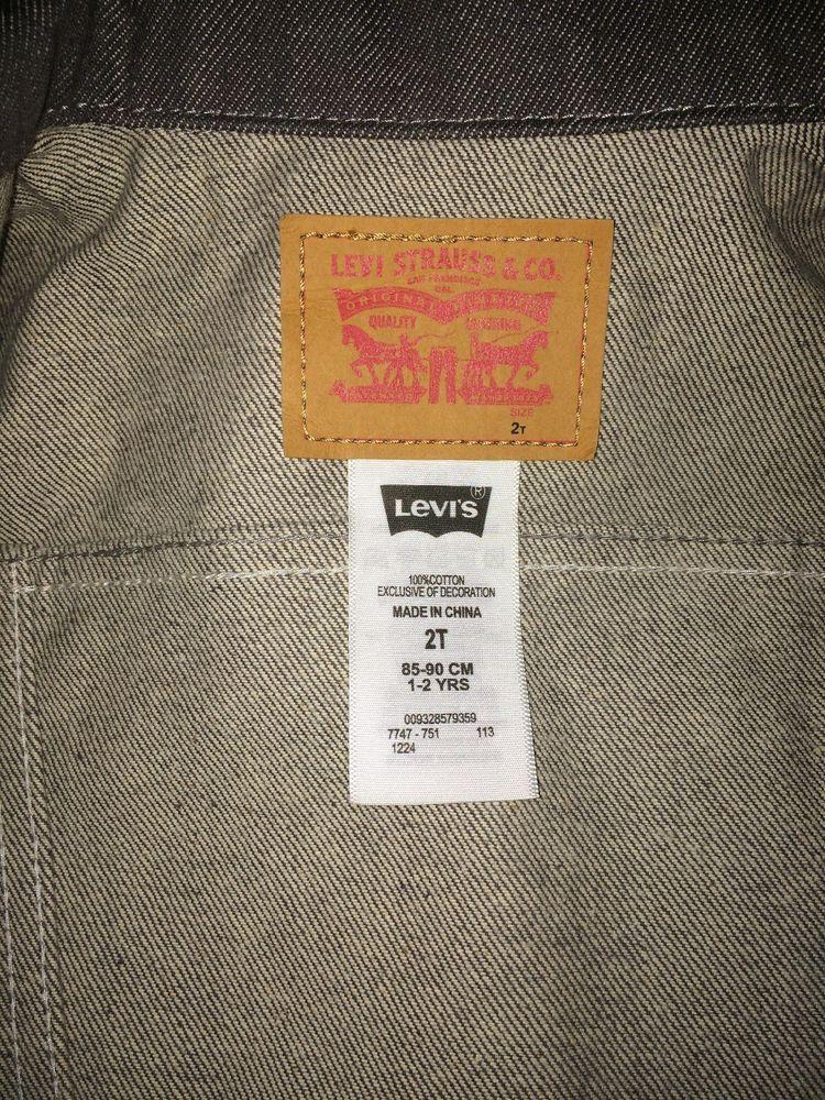 65e3825f72e2 NWOT Levis 2T Grey Denim Jacket Boy Or Girl  fashion  clothing ...