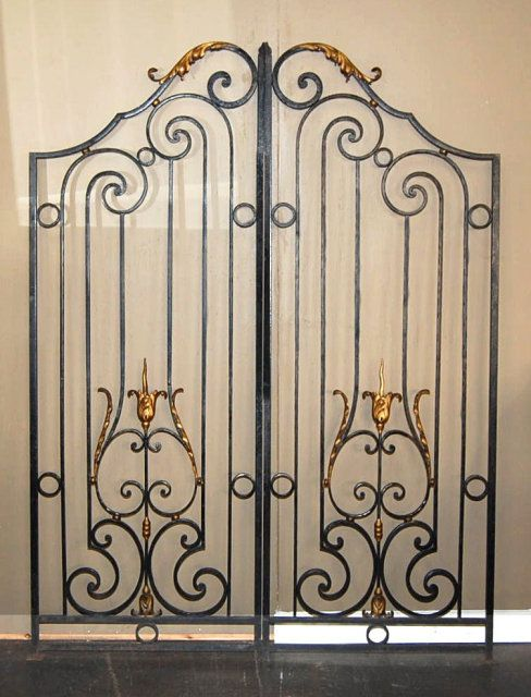 Pair Of Heavy French Antique Iron Gates For Sale Antiques Com