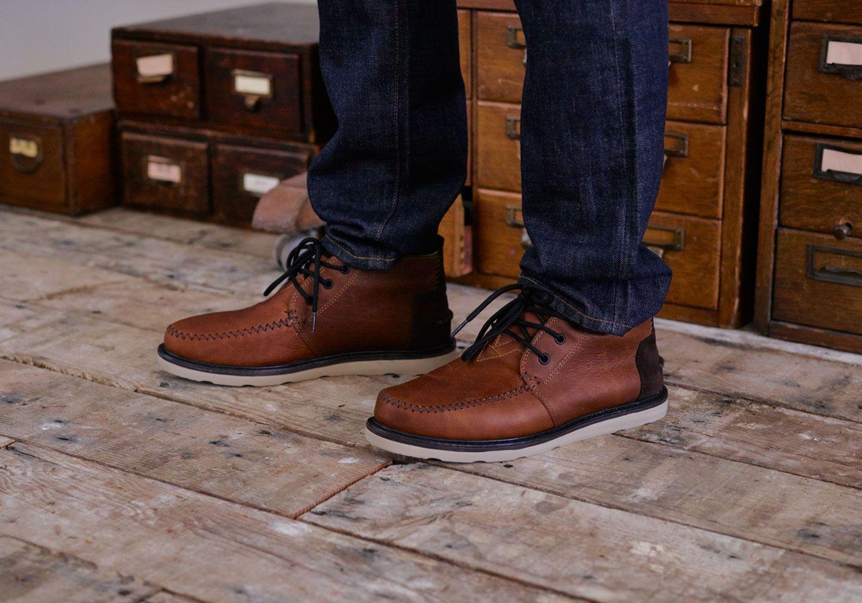 35e8152a2e8 Waterproof Brown Leather Men's Chukka Boots | TOMS | Dude stuff ...
