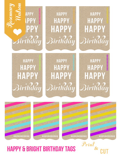Project 365 - Happy birthday printables