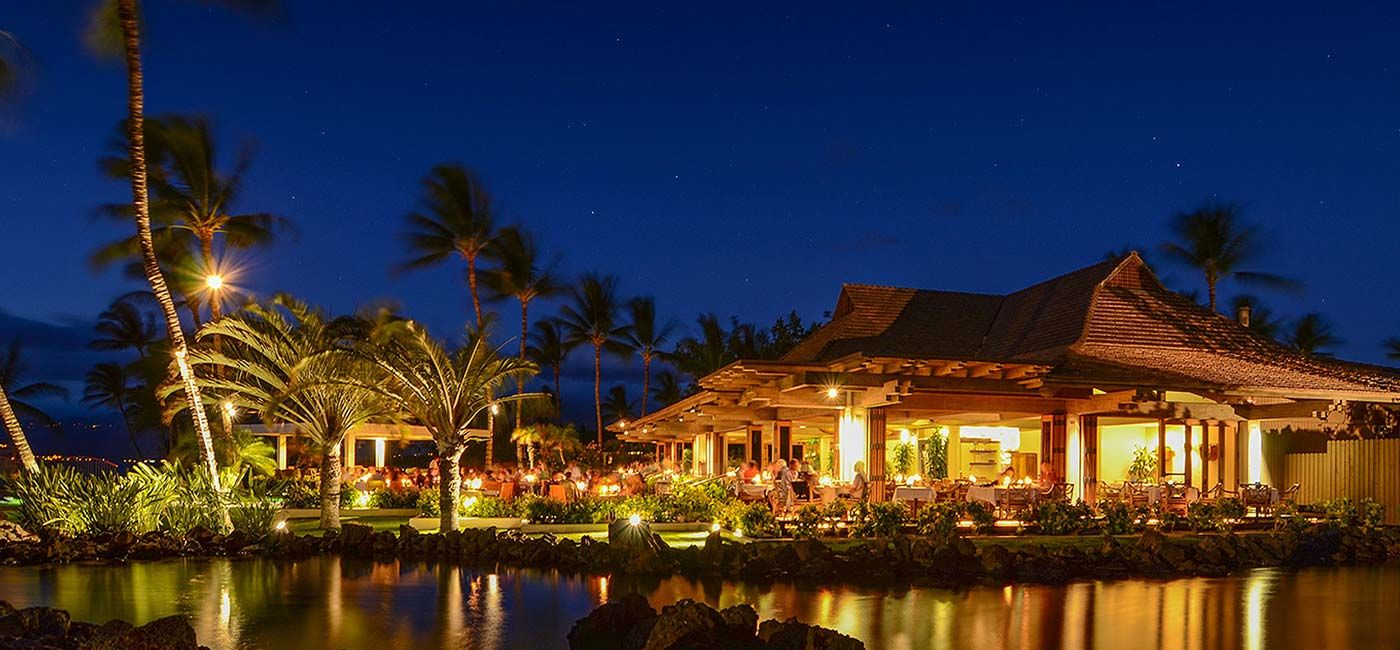 Hawaii Island Restaurants Mauna Lani Resort Canoe House On The