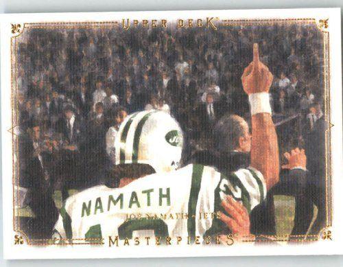 2008 Upper Deck / UD Masterpieces #47 Joe Namath - New York Jets (Football Cards) by Upper Deck / UD Masterpieces. $3.48. 2008 Upper Deck / UD Masterpieces #47 Joe Namath - New York Jets (Football Cards)