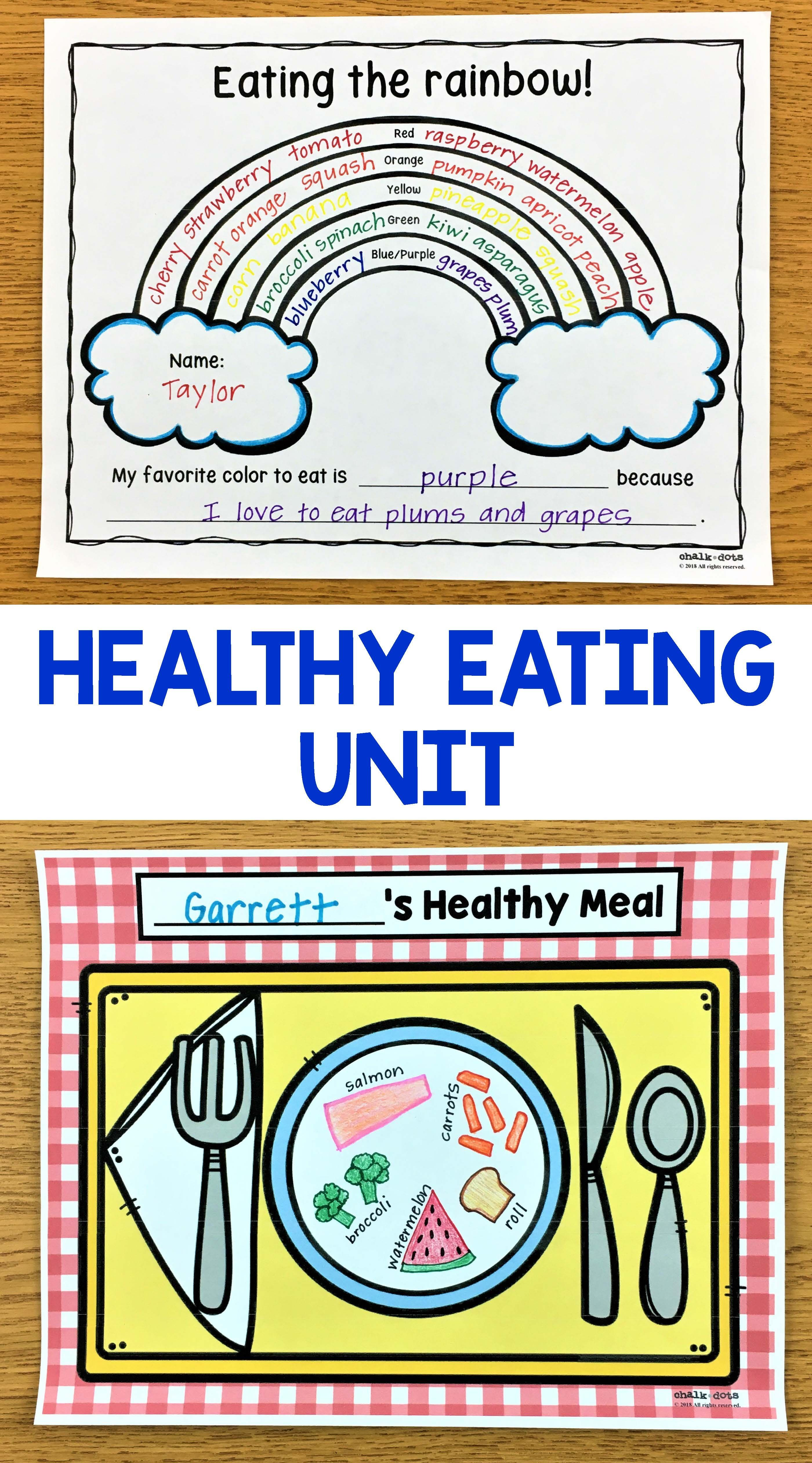 Healthy Eating And Nutrition Activities