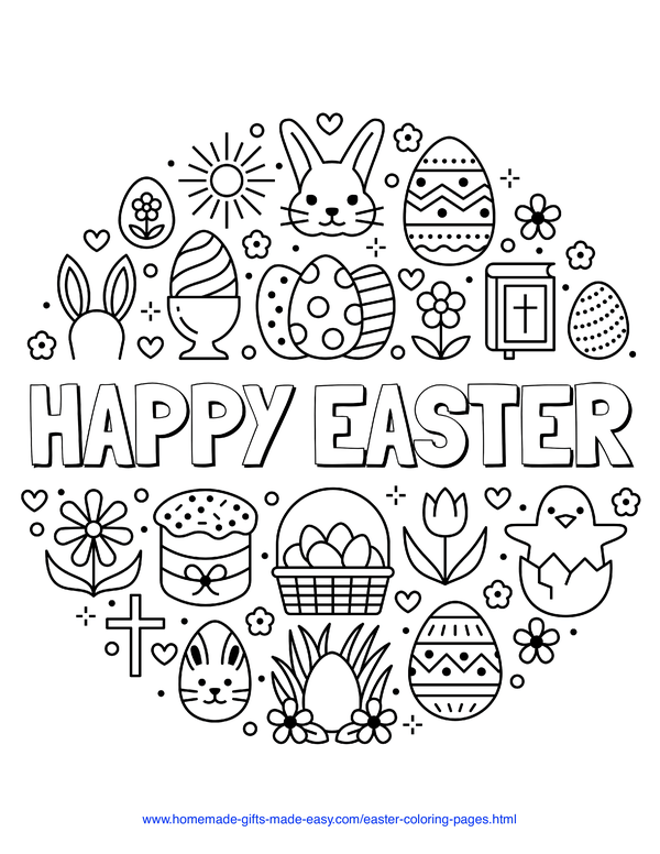 100 Easter Coloring Pages For Kids Free Printables Easter Coloring Pages Printable Easter Coloring Pages Free Easter Coloring Pages