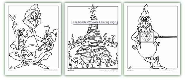Website With Tons Of Coloring Sheets And Worksheets Grinch Coloring Pages Christmas School Grinch Party