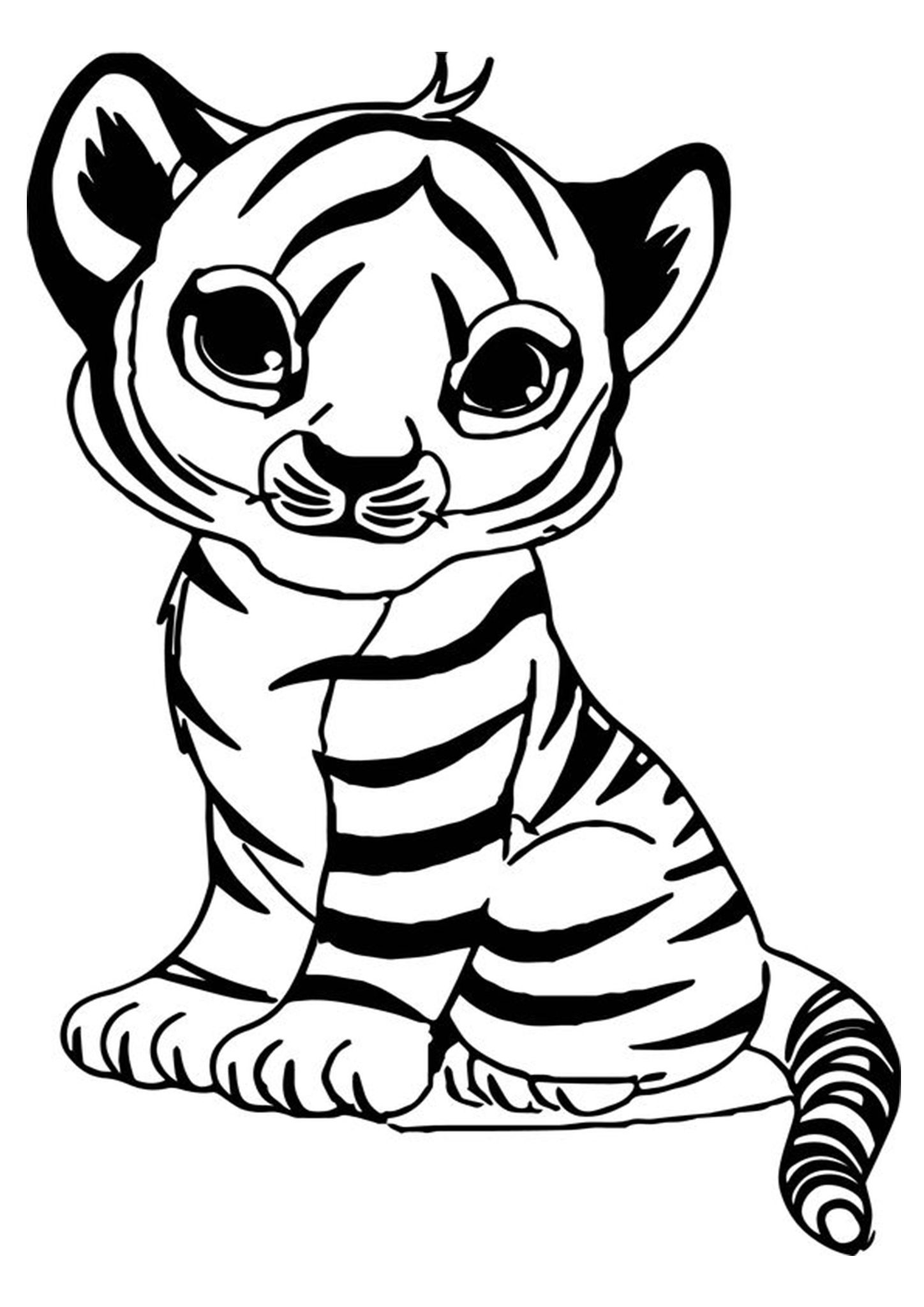 Free Easy To Print Tiger Coloring Pages Zoo Animal Coloring Pages Zoo Coloring Pages Cartoon Coloring Pages