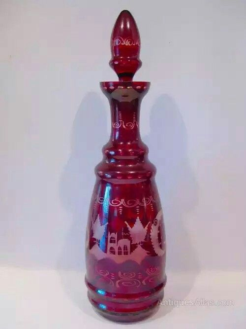 A late 19th/ early 20th C Bohemian decanter.