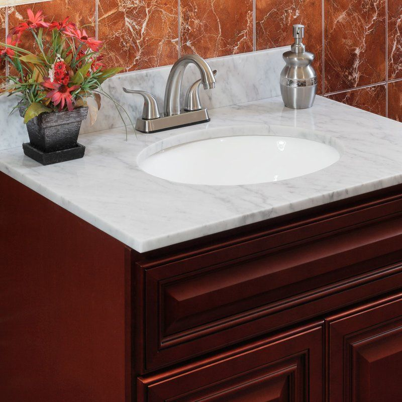 Cara White 37 Single Bathroom Vanity Top With Images Bathroom