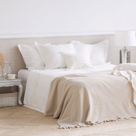 Tagesdecke Und Kissenbezug Aus Baumwolle Mit Volant Tagesdecken