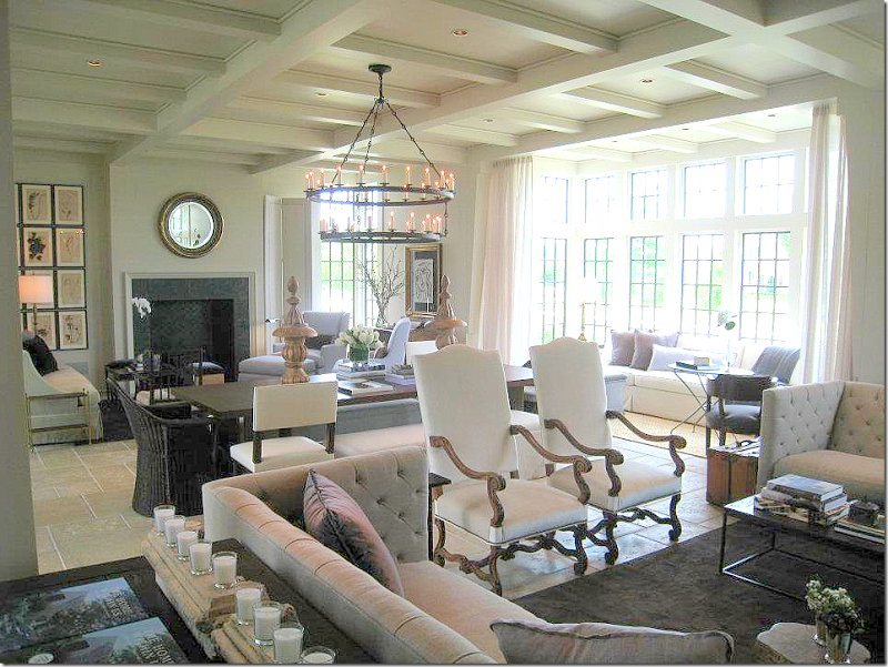 A look at the entire room with the two seating areas and - Multiple seating areas in living room ...