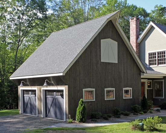 Exterior Design, Adorable Farmhouse Attached Garage Plans With Purple Color  Also Classic Exterior Wall Lights Also Beautiful Green Plants: Attached  Garage ... Design Ideas