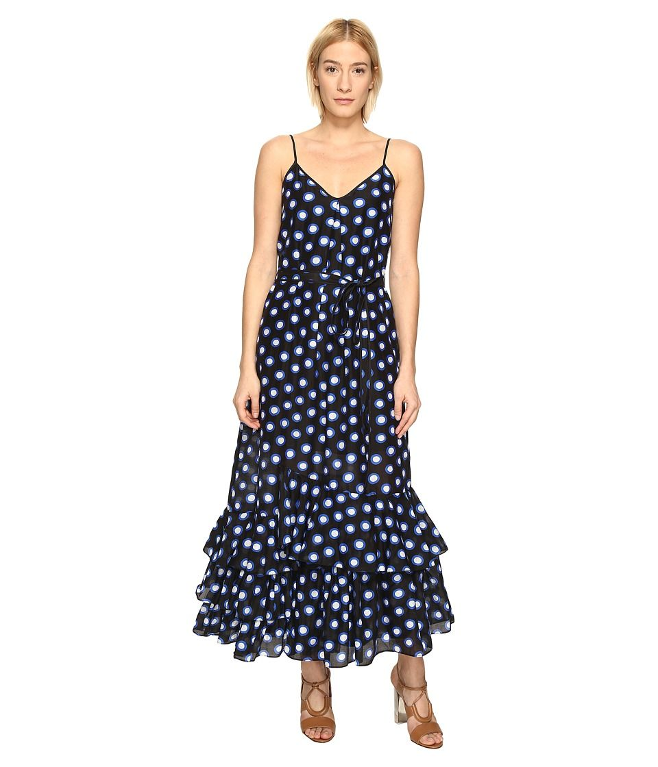 e87743b4566a BOUTIQUE MOSCHINO BOUTIQUE MOSCHINO - RUFFLE BOTTOM MAXI DRESS (BLACK DOT)  WOMEN'S DRESS. #boutiquemoschino #cloth #